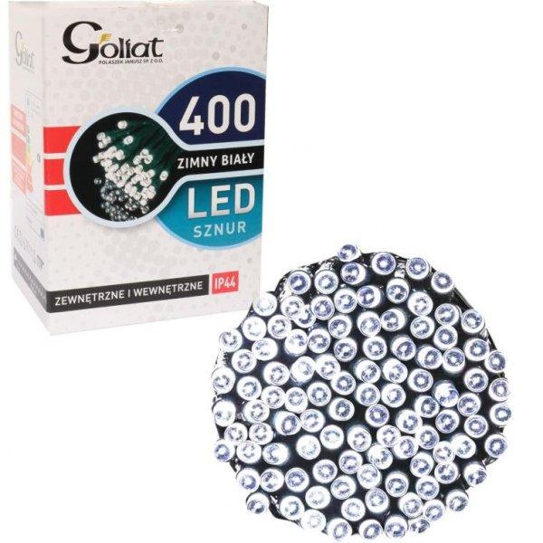 LAMPKI 400 LED ZEWNĘTRZNE ZIMNY BIAŁY OŚWIETLENIE ŚWIĄTECZNE
