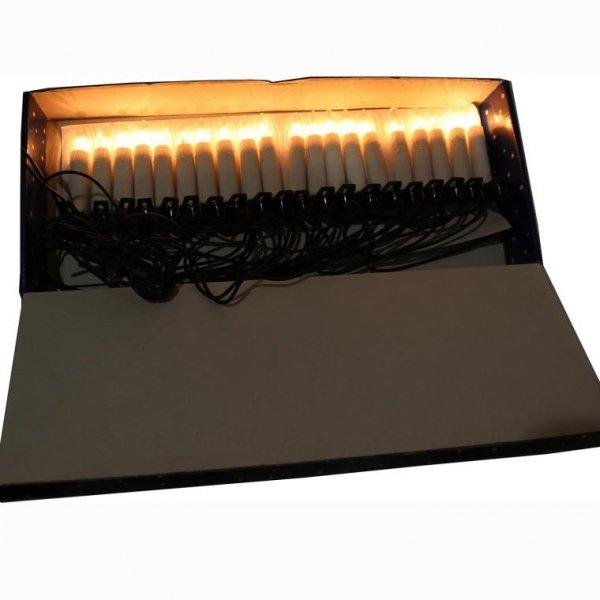 LAMPKI CHOINKOWE 20 SZT ŚWIECZKI CHOINKOWE