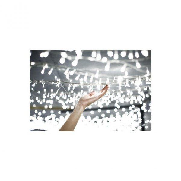 LAMPKI CHOINKOWE 100 LED WEWNĘTRZNE BIAŁE ZIMNE