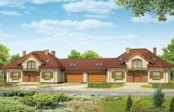 Projekt domu Benedykt bliźniak pow.netto 192,52 m2