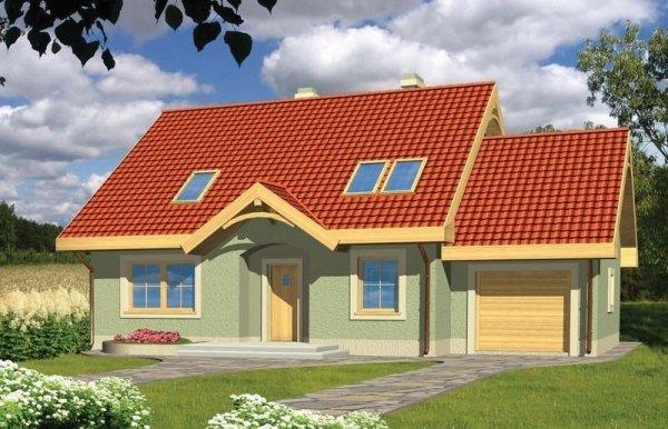Projekt domu Oliwka z garażem