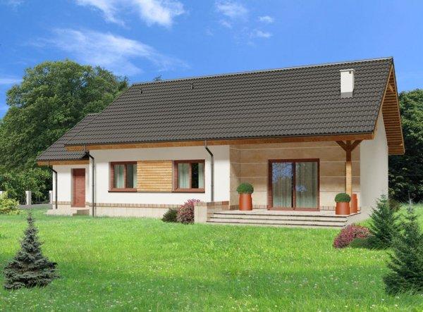 Projekt domu Luana II - wersja z garażem
