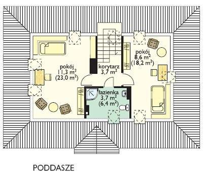 Projekt domu Gargamel pow.netto 110,48 m2