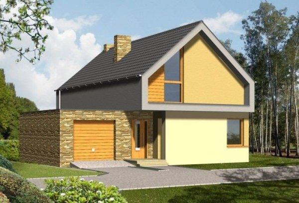 Projekt domu ULTRA z garażem 1-stanowiskowym