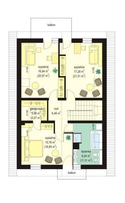 Projekt domu Miejski pow.netto 160,13 m2