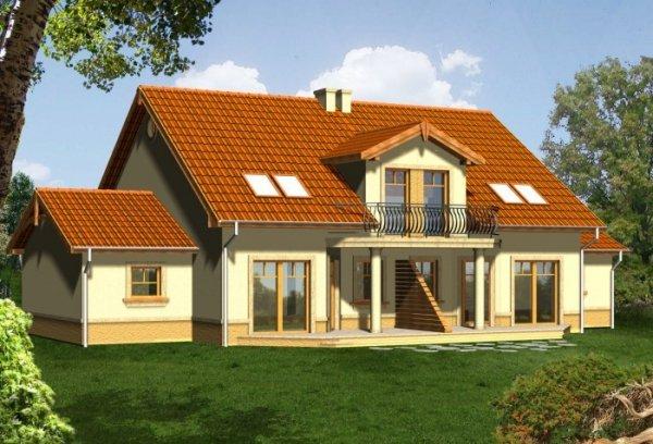 Projekt domu MALTA 2 z garażem 1-stanowiskowym