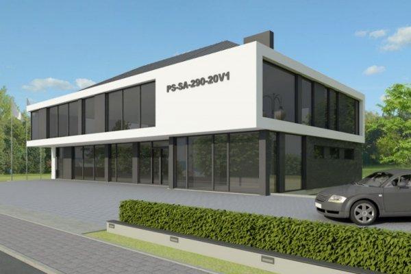 Projekt biurowca PS-SA-290-20V1 pow. 563,19 m2