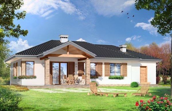 Projekt domu Czaruś pow.netto 89,34 m2