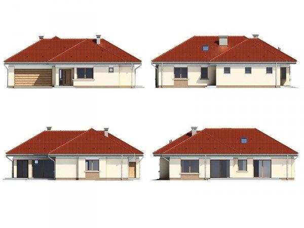 Projekt domu Komfortowy III pow.netto 140,39 m2