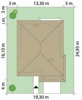 Projekt domu Topaz pow.netto 240 m2