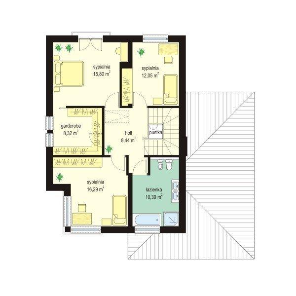 Projekt domu Ametyst pow.netto 149,98 m2