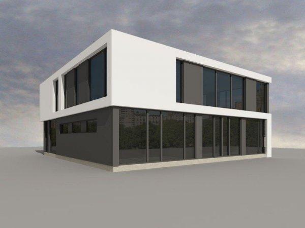 Projekt biurowca PS-SB-180-20v1 pow. 349,46 m2
