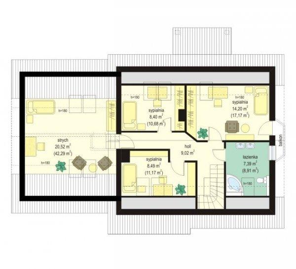 Projekt domu Bryza II pow.netto 152,24 m2