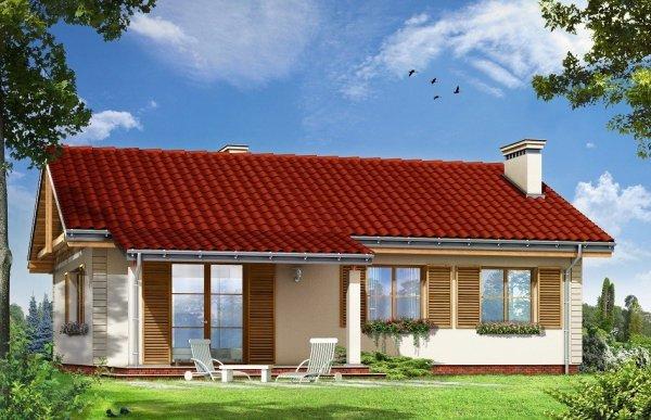 Projekt domu Szpak pow.netto 102,29 m2