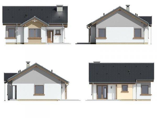 Projekt domu Cypisek pow.netto 66,19 m2