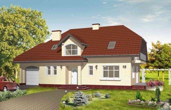 Projekt domu Pogodny III pow.netto 184,95 m2