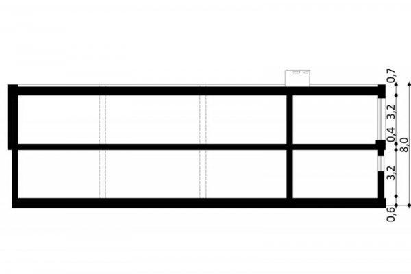 Projekt biurowca PS-SB-290-20V2 pow. 563,19 m2