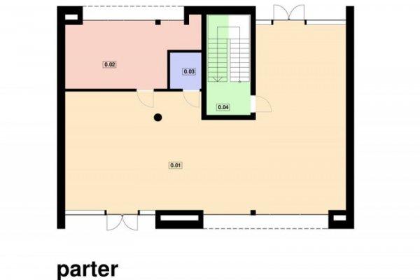 Projekt biurowca PS-BP-210-20 o pow. 411,48 m2