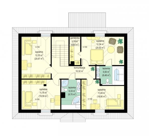 Projekt domu Hetman pow.netto 188,57 m2