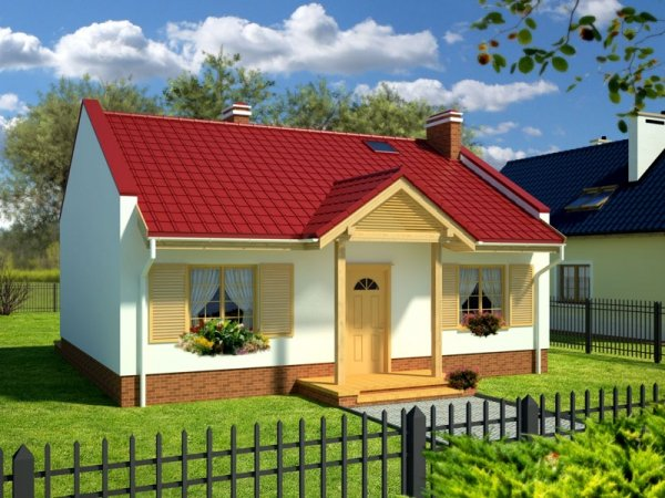 Projekt domu na wąską działkę Kwiat Paproci