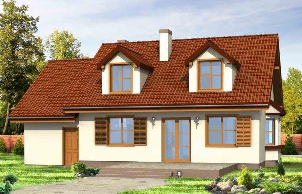 Projekt domu Zgrabny z lukarnami pow.netto 135,68 m2