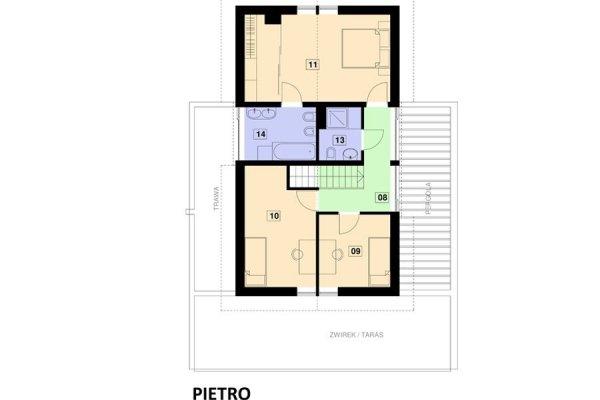 Projekt domu nowoczesnego PS-GA-70-20G2 pow. 155,06 m2
