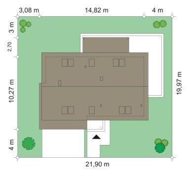 Projekt domu Party pow.netto 143.38 m2