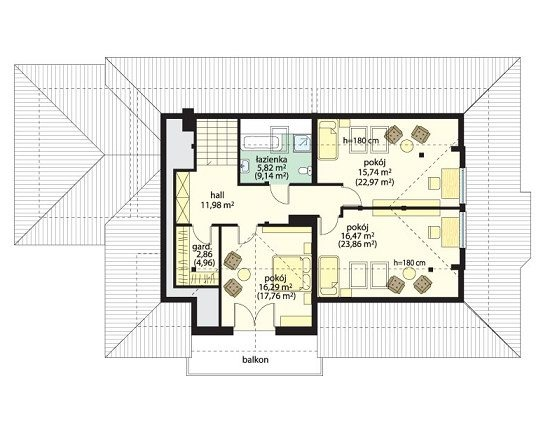 Projekt domu Familijny pow.netto 218,49 m2