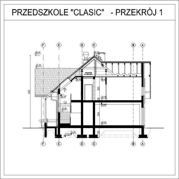 Projekt przedszkola CLASSIC na 75 dzieci - 3 oddziałowe
