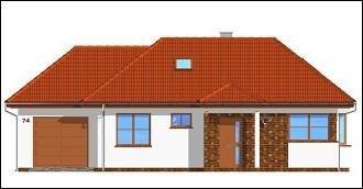 Projekt domu Klejnot z garażem pow.netto 86,92 m2