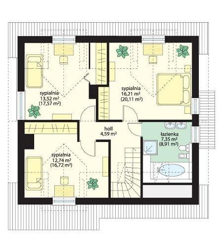Projekt domu Klif pow.netto 129,86 m2