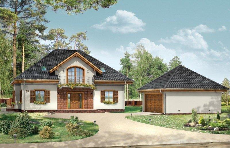 Projekt domu Filip pow.netto 187,25 m2