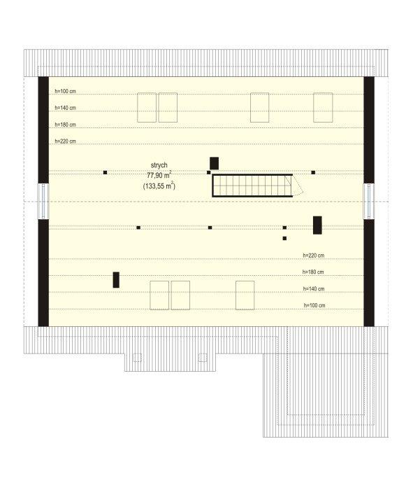 Projekt domu Nektarynka pow.netto 114.27 m2