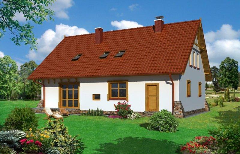 Projekt domu BS-09 z senioratką pow. 159,5 m2
