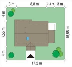 Projekt domu Okruszek pow.netto 66,62 m2