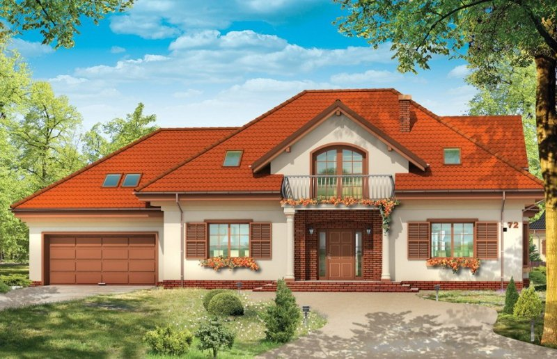 Projekt domu Benedykt V pow.netto 260,05 m2