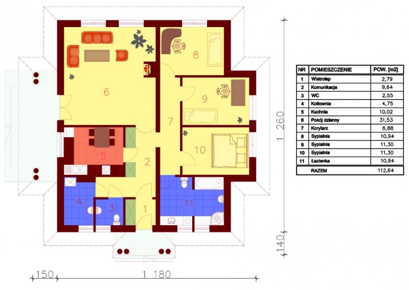 Projekt domu Lipowy Dwór