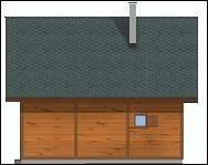 Projekt domu Francik z tarasem pow.netto 60,53 m2