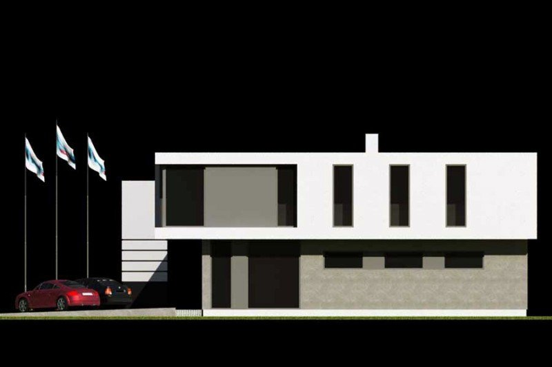 Projekt budynku handlowo usługowego PS-SB-V3