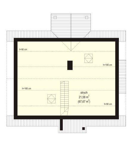 Projekt domu Perełka pow.netto 67,83 m2