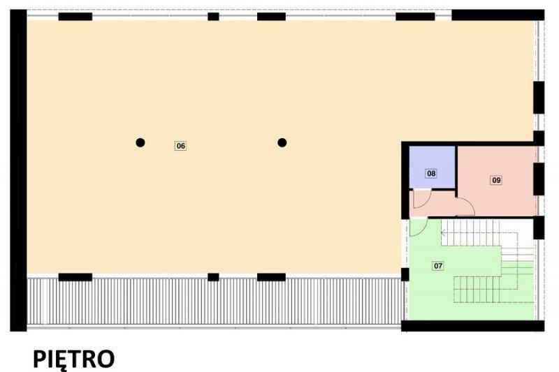Projekt biurowca PS-SA-290-20V3 pow. 563,19 m2