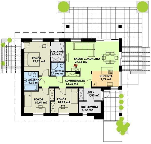 Projekt domu TK2