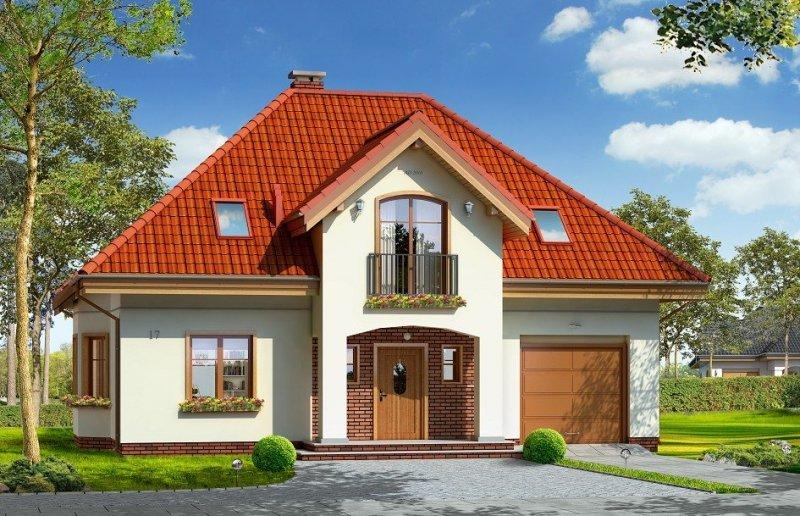 Projekt domu Stokrotka pow.netto 145,13 m2