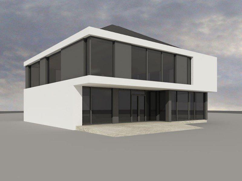 Projekt biurowca PS-SA-180-20v1 pow. 349,46 m2