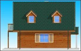 Projekt domu D0III Grześ drewniany pow.netto 119,47 m2