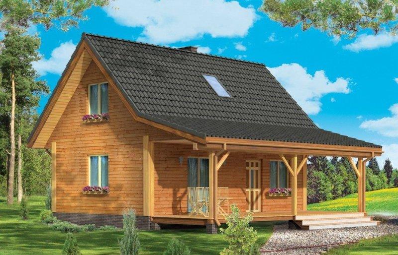 Projekt domu Przepiórka pow.netto 65,49 m2