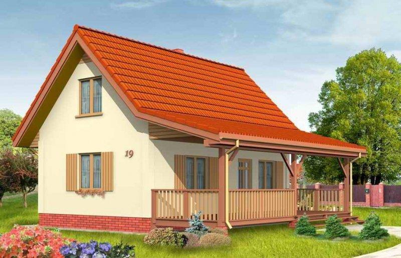 Projekt domu Sosenka II pow.netto 59,67 m2