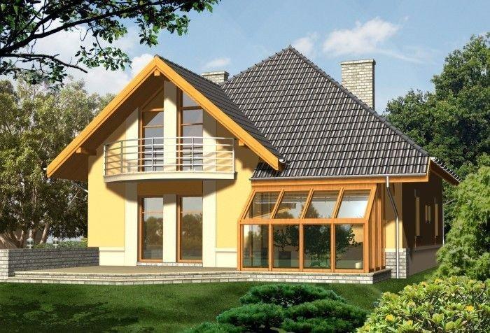 Projekt domu PROZA z garażem 1-stanowiskowym