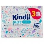Kindii Pure Chusteczki oczyszczające dla niemowląt i dzieci z aloesem 1 op.-180szt (60x3)