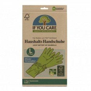 IF YOU CARE Wielorazowe rękawiczki lateksowe FAIR RUBBER 1 Para Rozmiar L
